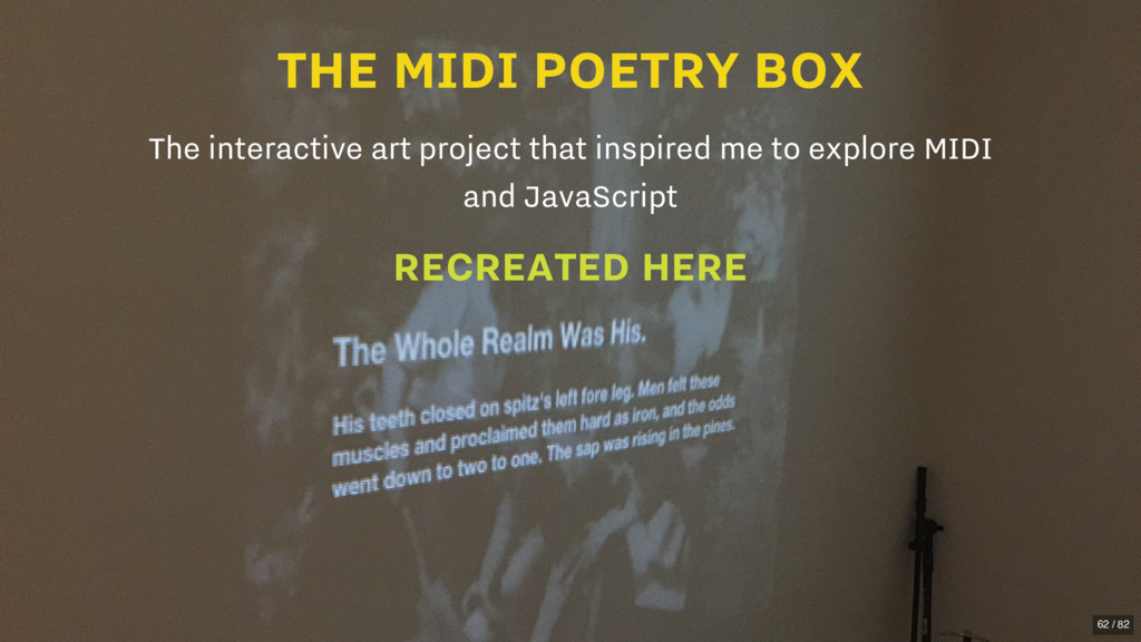 THE MIDI POETRY BOX The interactive art project...