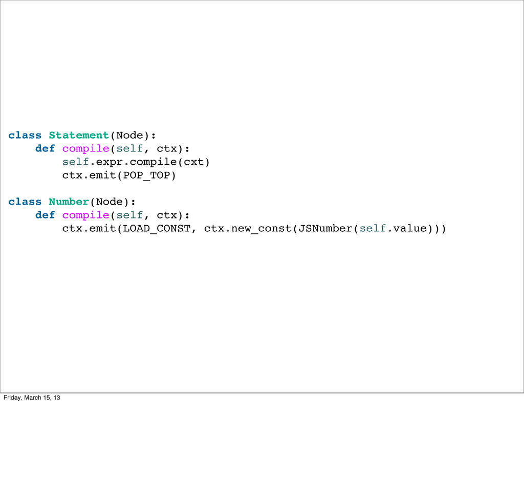 class Statement(Node): def compile(self, ctx): ...