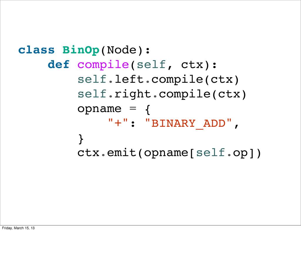 class BinOp(Node): def compile(self, ctx): self...