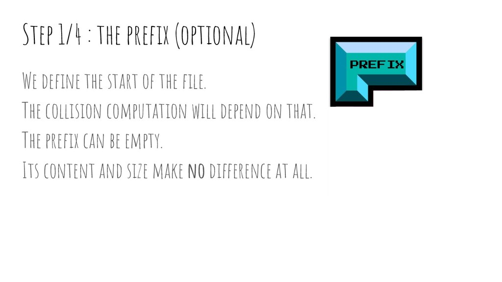 Step 1/4 : the prefix (optional) PREFIX Padding ...