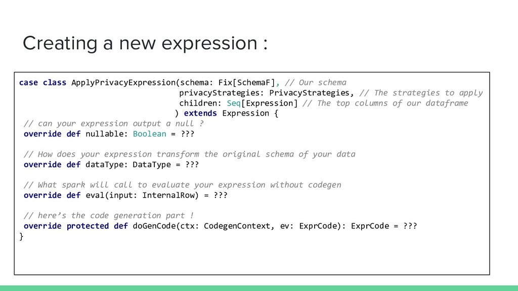 Creating a new expression : case class ApplyPri...
