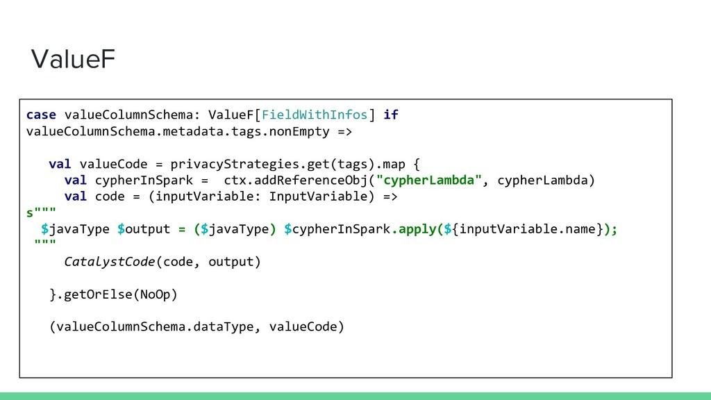 ValueF case valueColumnSchema: ValueF[FieldWith...