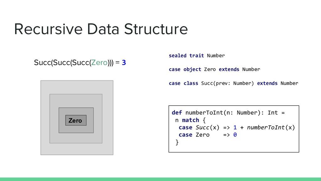 Recursive Data Structure sealed trait Number ca...