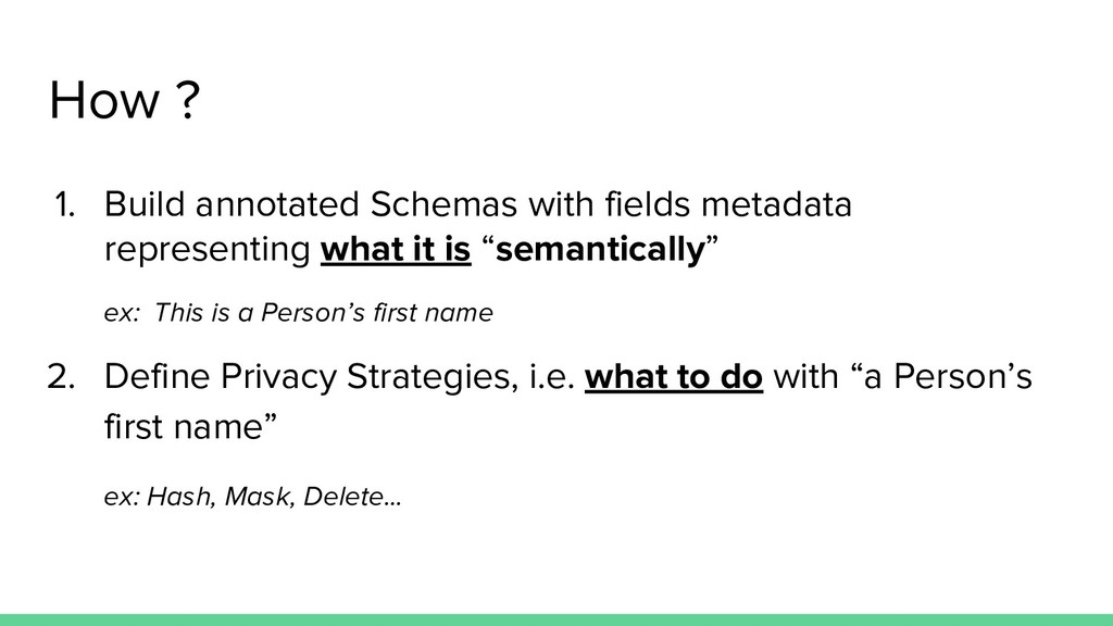 How ? 1. Build annotated Schemas with fields me...