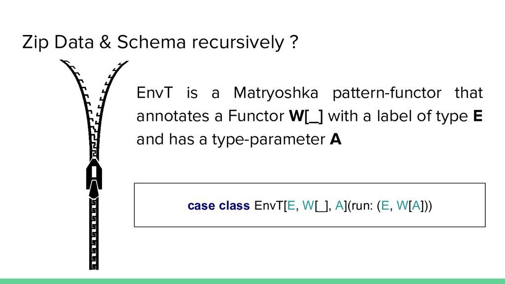 Zip Data & Schema recursively ? case class EnvT...
