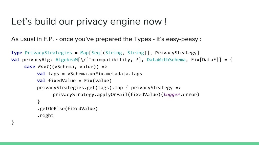 Let's build our privacy engine now ! As usual i...