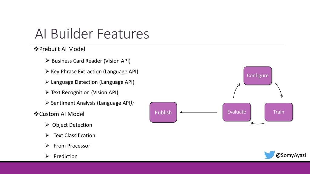 AI Builder Features @SomyAyazi ❖Prebuilt AI Mod...