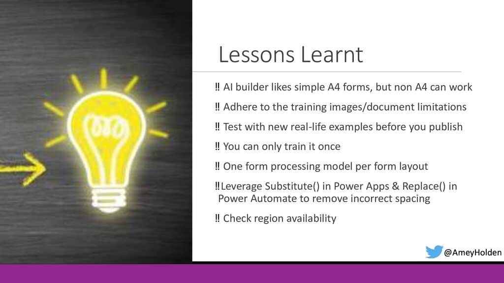 Lessons Learnt ‼ AI builder likes simple A4 for...