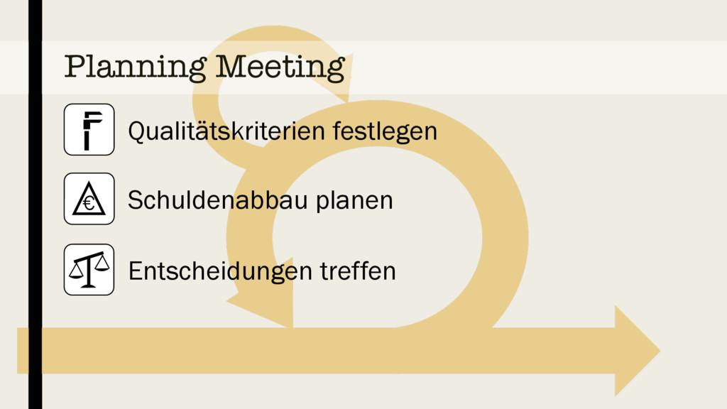Planning Meeting Qualitätskriterien festlegen S...