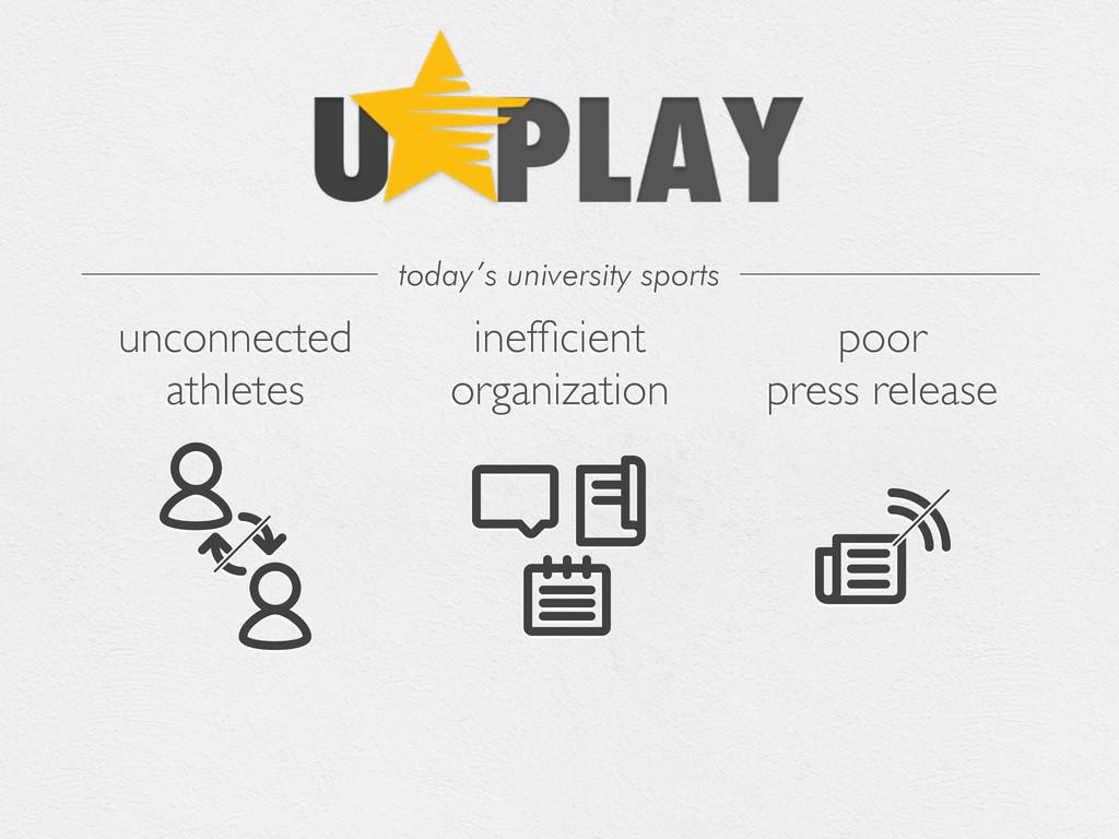 unconnected athletes inefficient organization po...