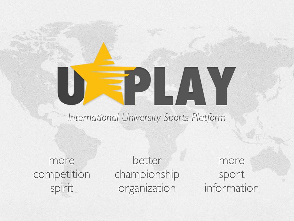 International University Sports Platform more c...