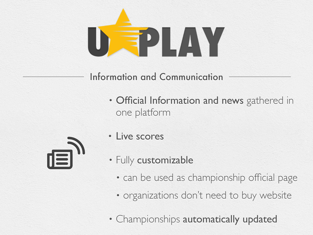 Information and Communication • Official Informa...