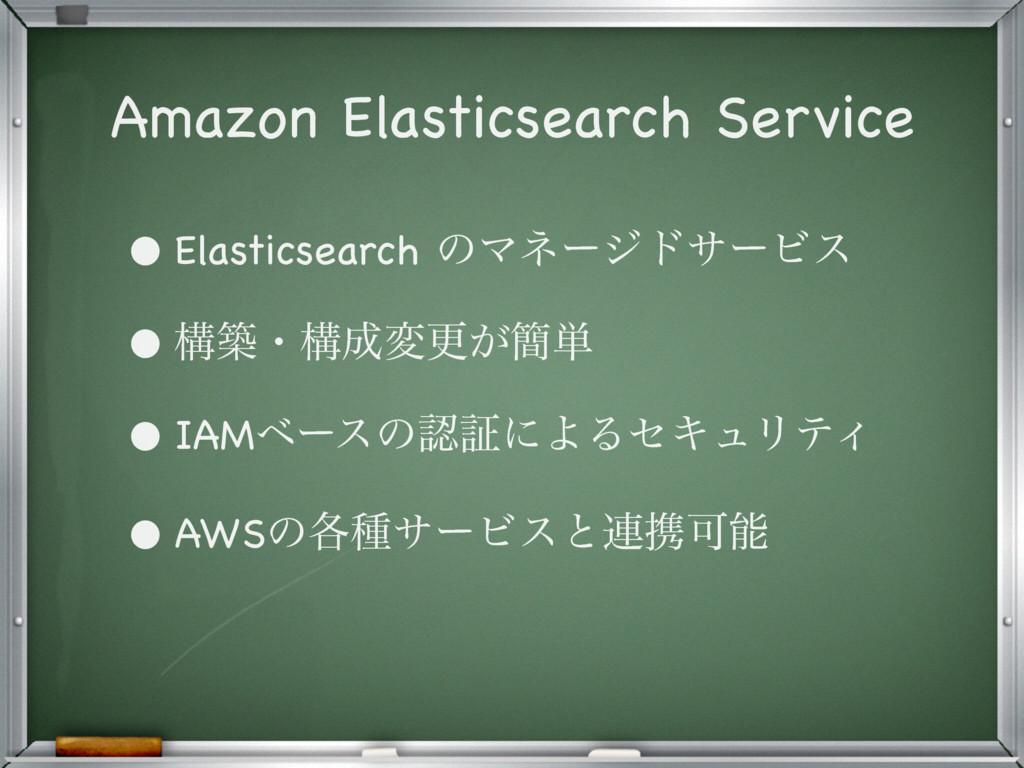 Amazon Elasticsearch Service • Elasticsearch ͷϚ...