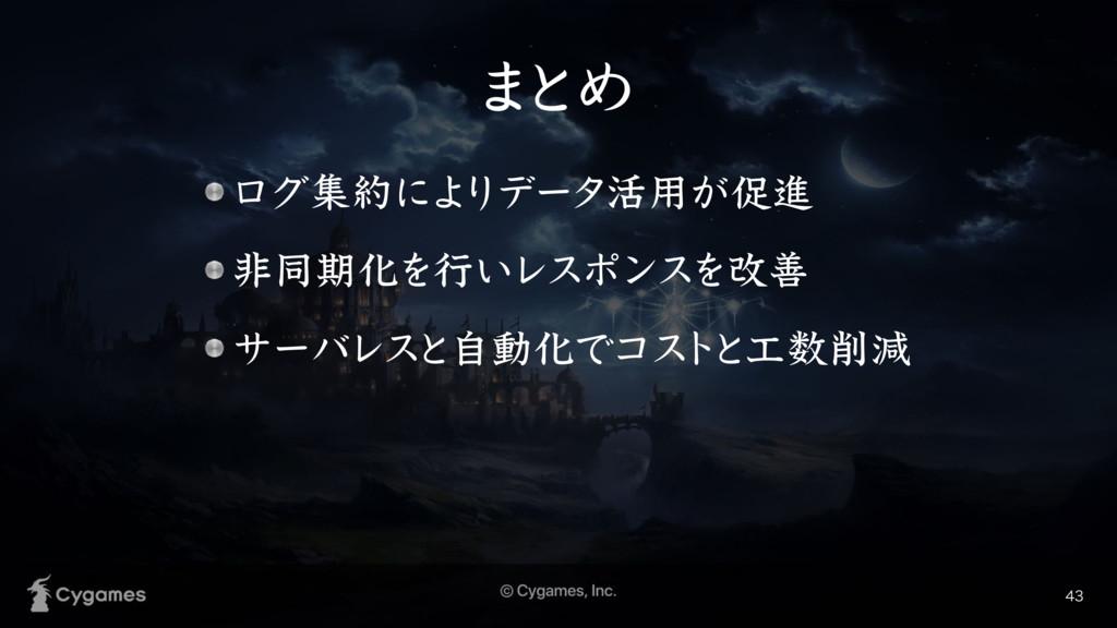 · ͱΊ ϩάूʹΑ Γσʔλ׆༻͕ଅਐ ඇಉظԽΛߦ͍ϨεϙϯεΛվળ αʔόϨ...