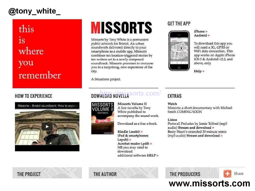 www.missorts.com @tony_white_ http://missorts.c...