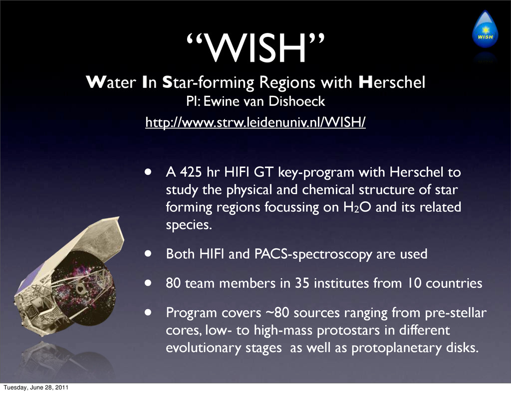 """WISH"" Water In Star-forming Regions with Hersc..."