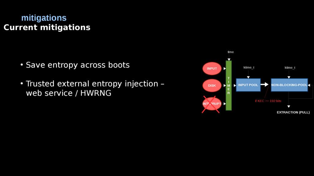 mitigations Current mitigations ● Save entropy ...