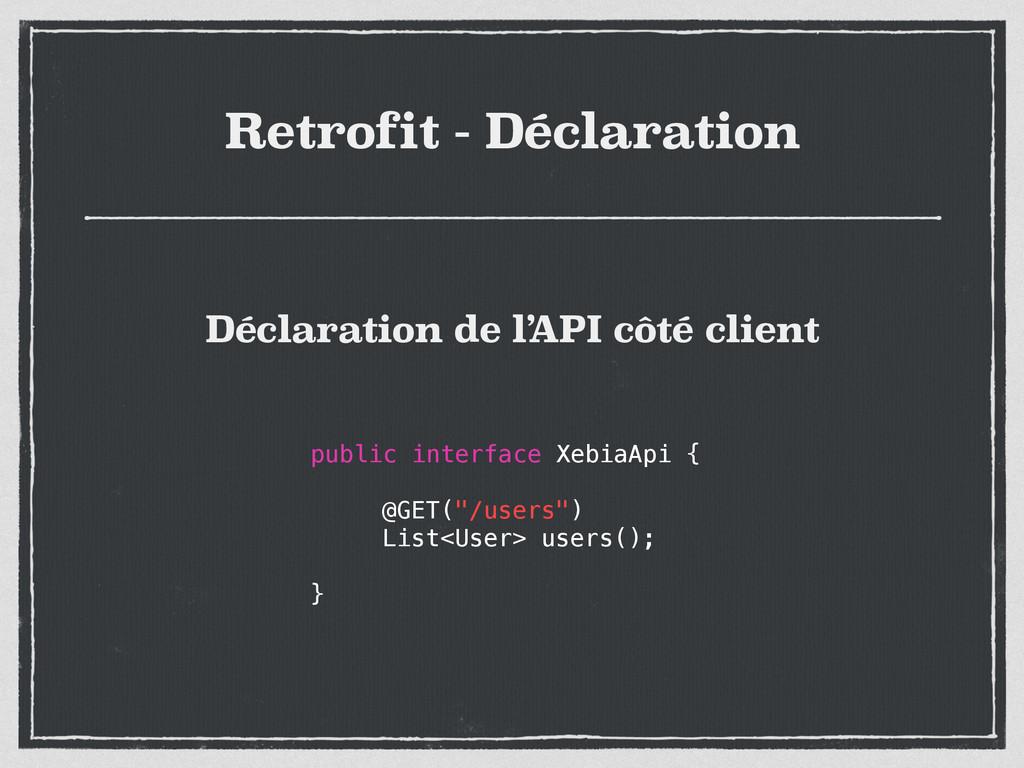 Retrofit - Déclaration public interface XebiaAp...
