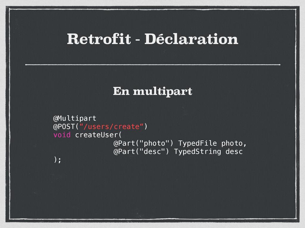 """Retrofit - Déclaration @Multipart @POST(""""/users..."""
