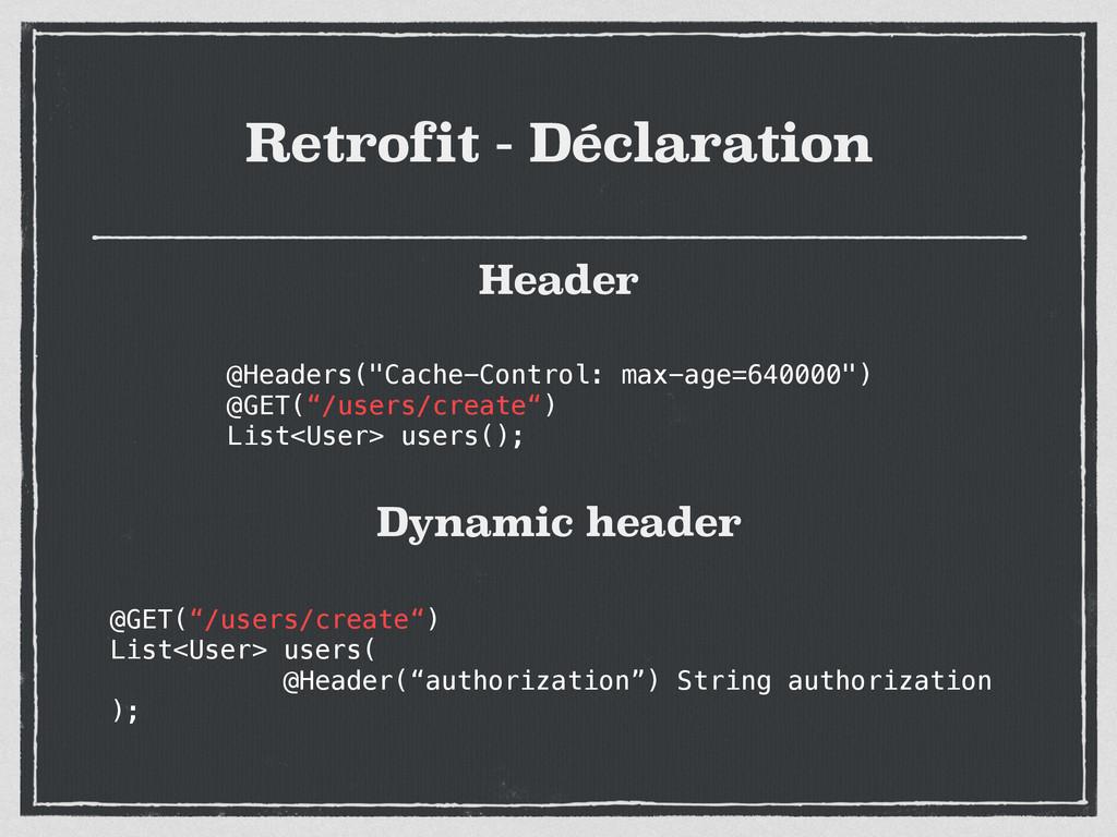 """Retrofit - Déclaration @Headers(""""Cache-Control:..."""