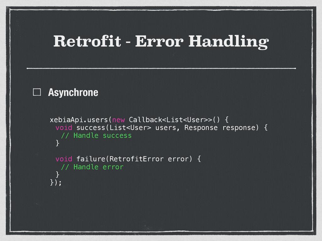 Retrofit - Error Handling Asynchrone xebiaApi.u...