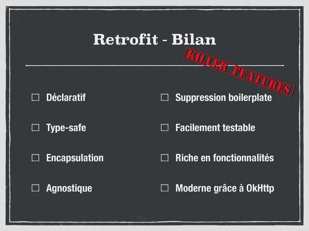 Retrofit - Bilan Déclaratif Type-safe Encapsula...