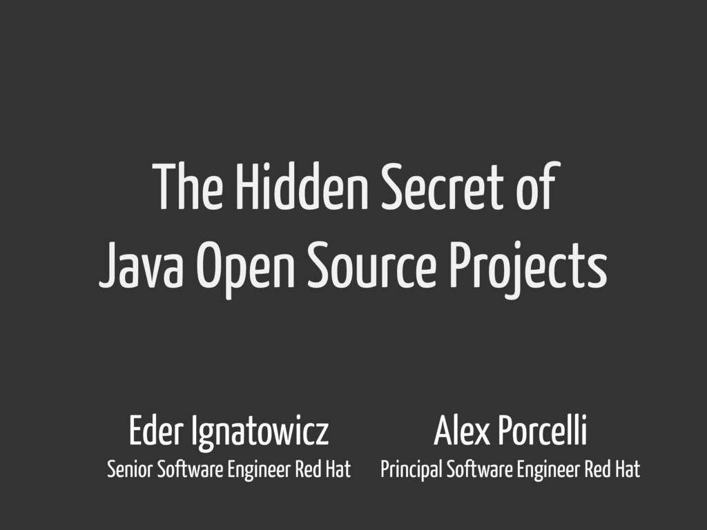 The Hidden Secret of Java Open Source Projects ...