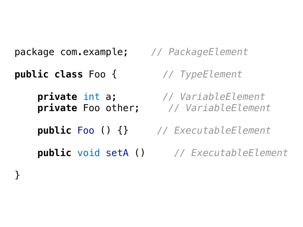 package com.example; // PackageElement public c...