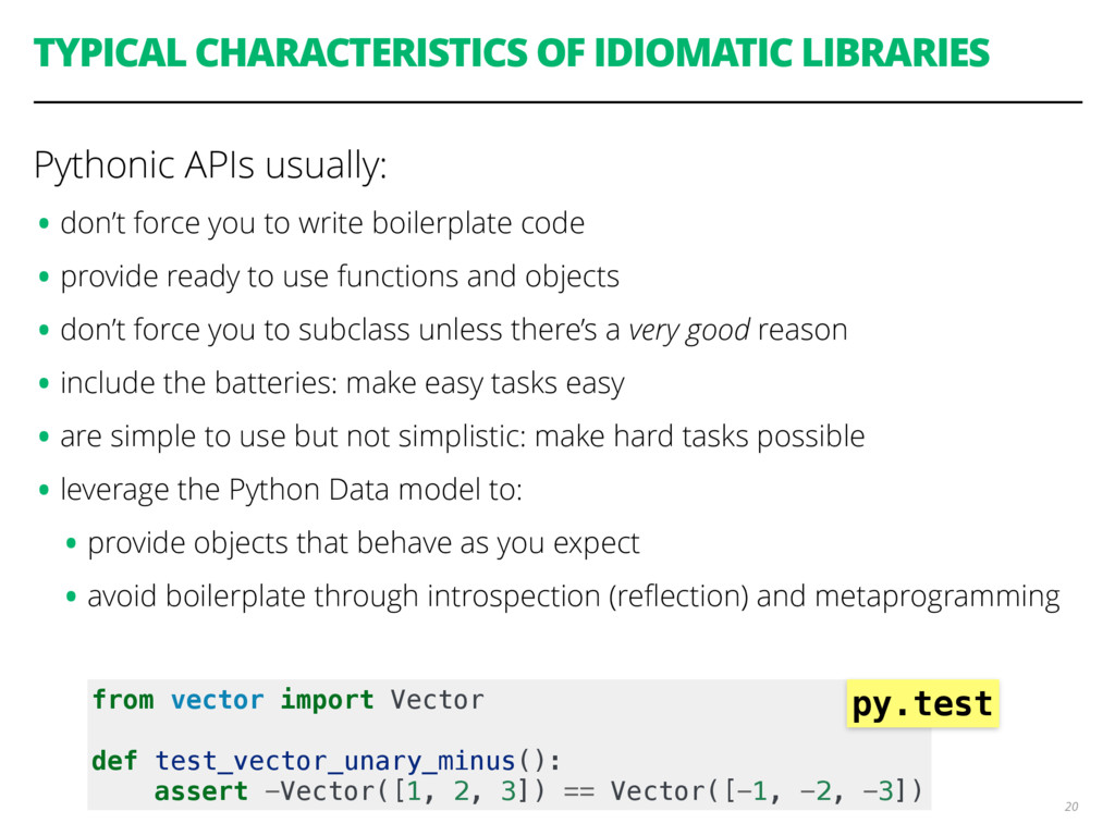 TYPICAL CHARACTERISTICS OF IDIOMATIC LIBRARIES ...