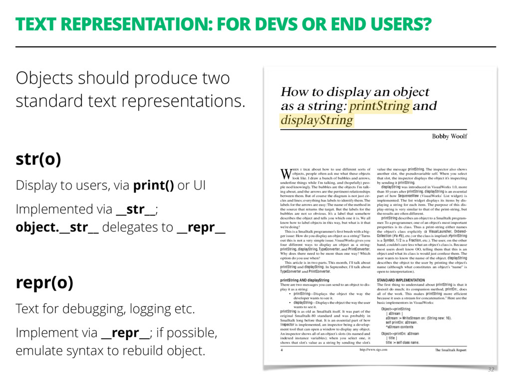 TEXT REPRESENTATION: FOR DEVS OR END USERS? Obj...