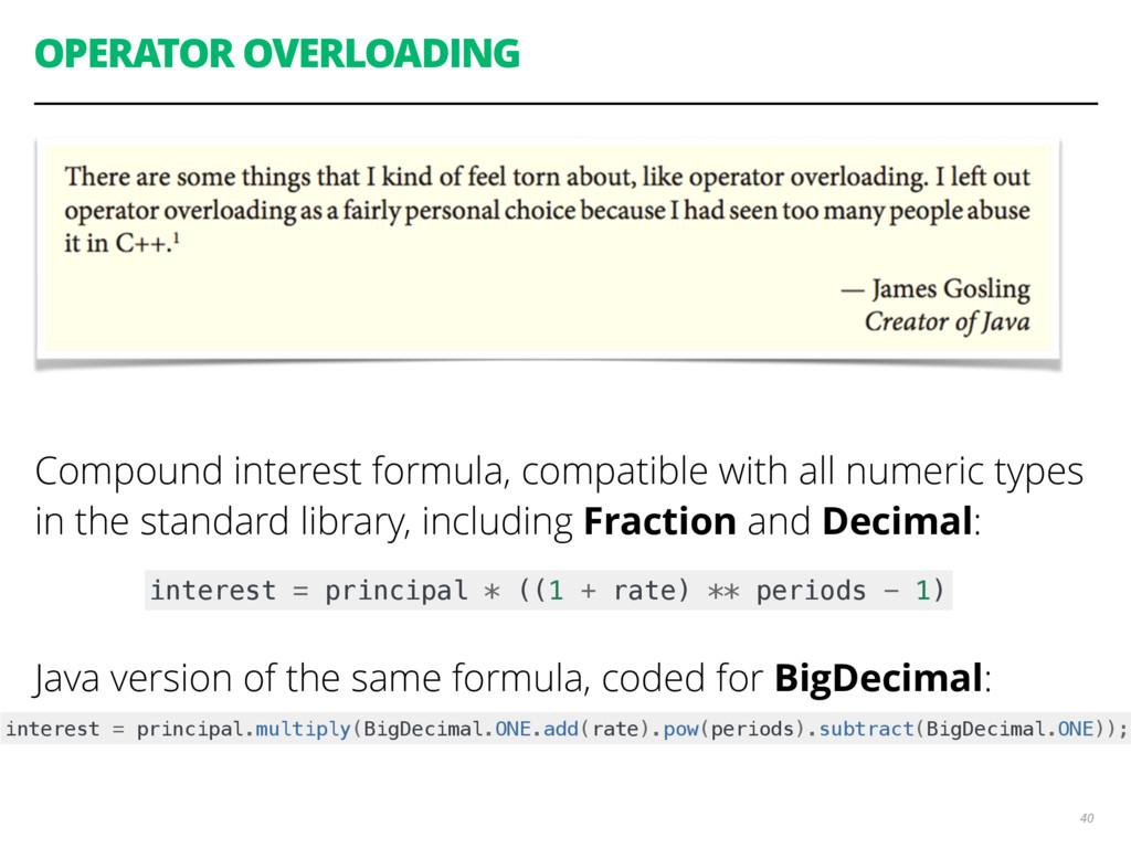 OPERATOR OVERLOADING Compound interest formula,...