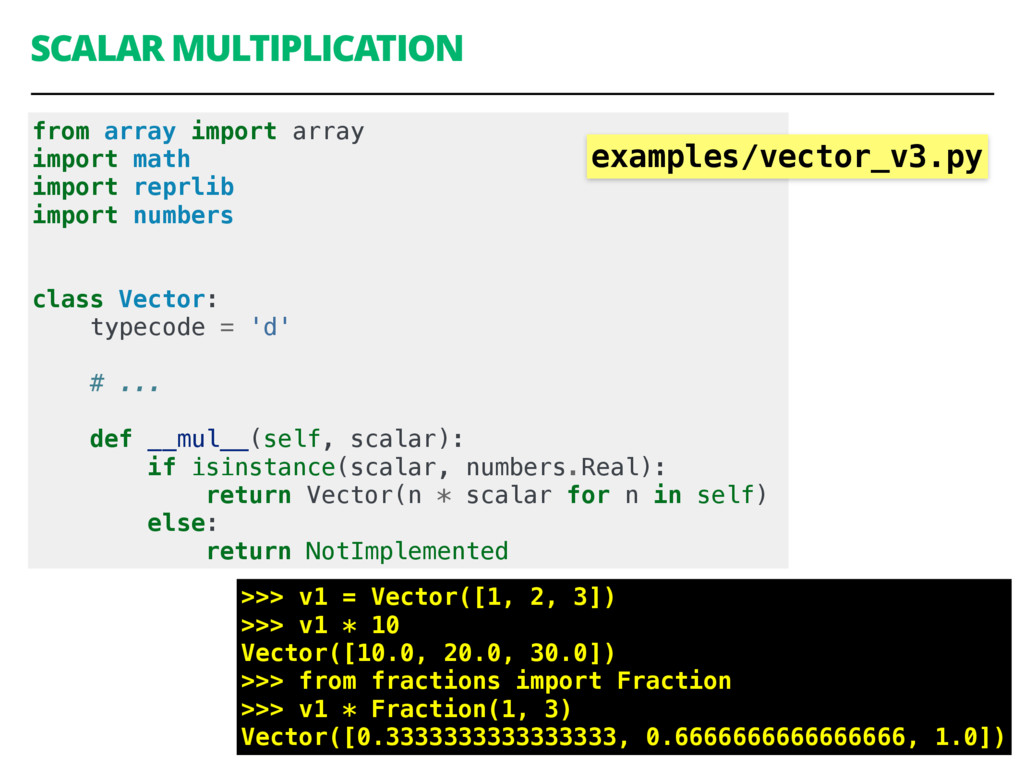 SCALAR MULTIPLICATION 42 from array import arra...