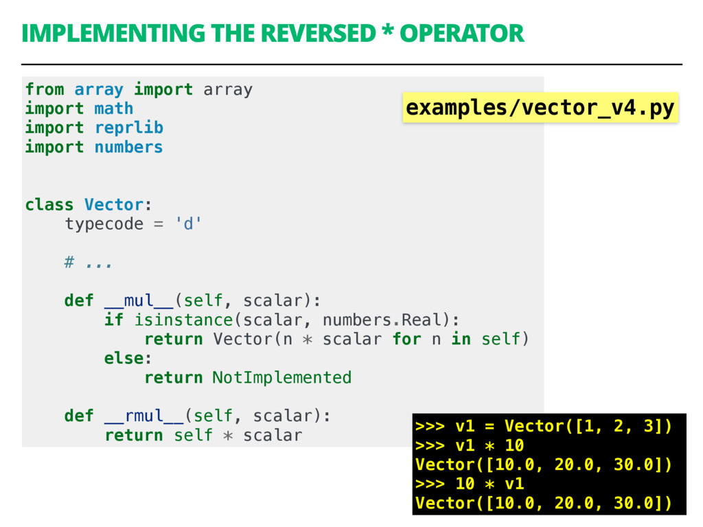 IMPLEMENTING THE REVERSED * OPERATOR 45 from ar...