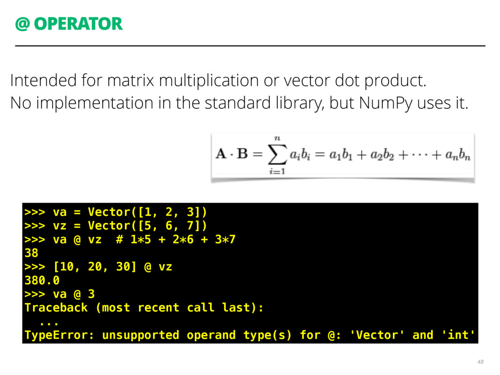 @ OPERATOR Intended for matrix multiplication o...