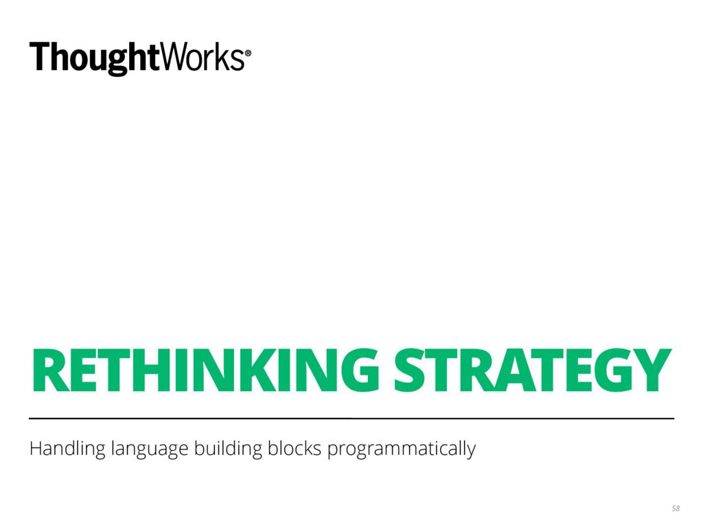 RETHINKING STRATEGY Handling language building ...