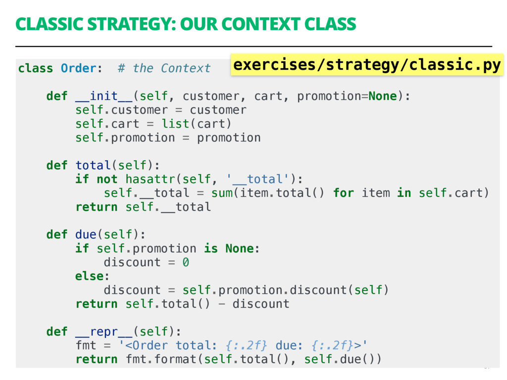 CLASSIC STRATEGY: OUR CONTEXT CLASS 61 class Or...