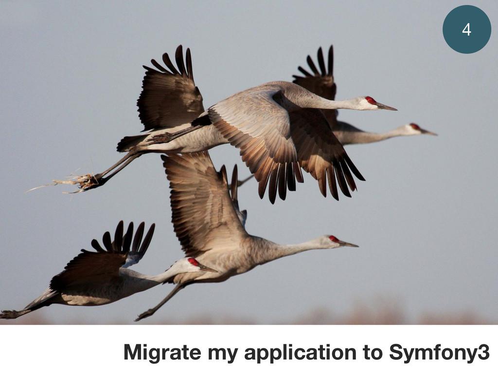 Migrate my application to Symfony3 4