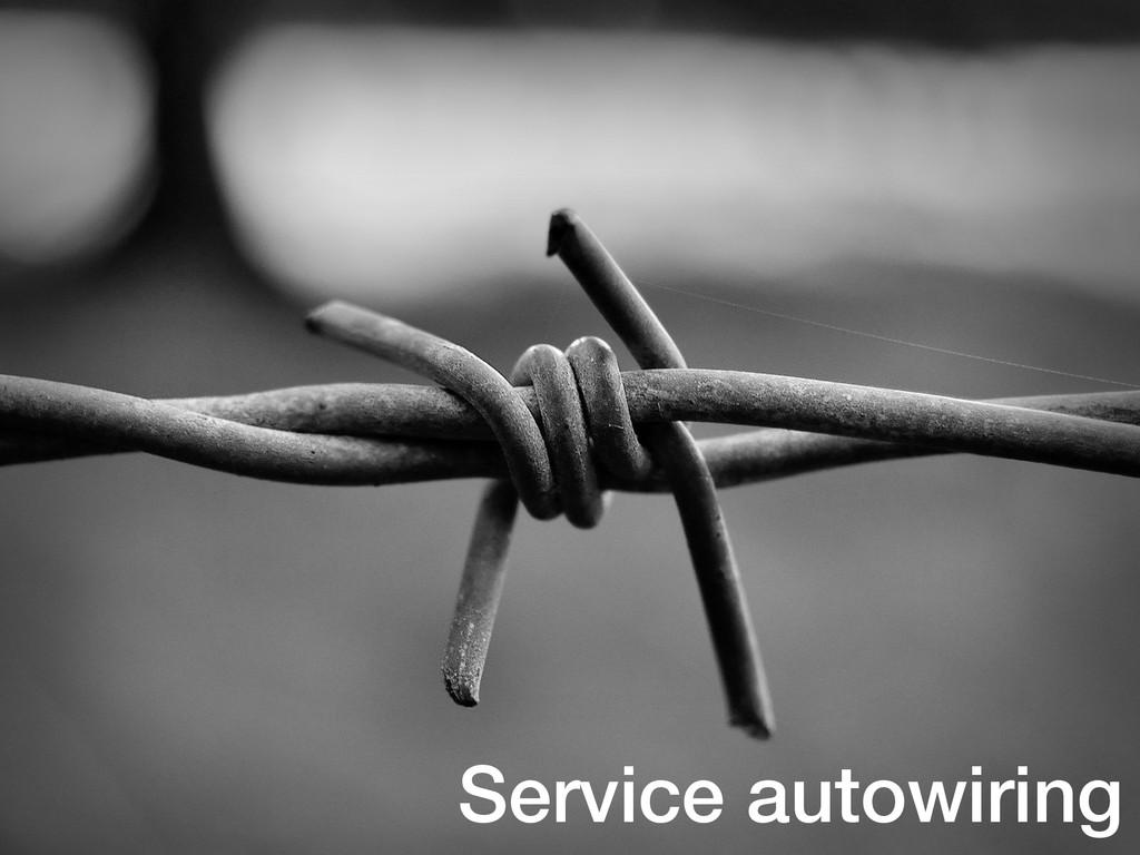 Service autowiring