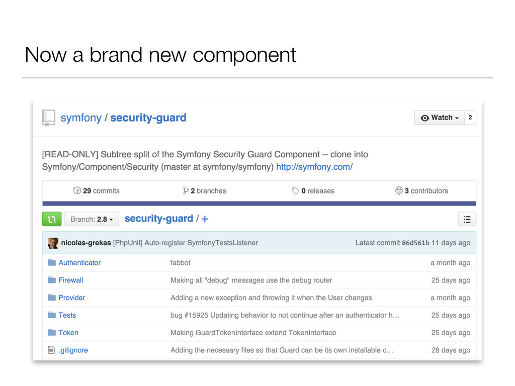 Now a brand new component