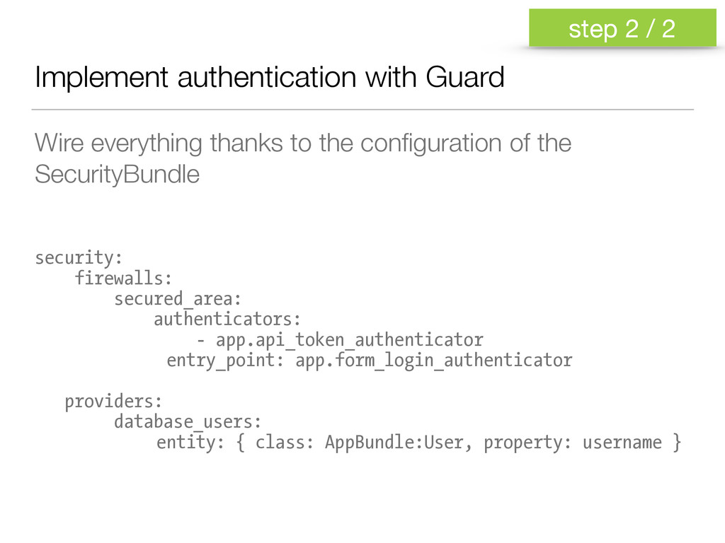 Implement authentication with Guard Wire everyt...