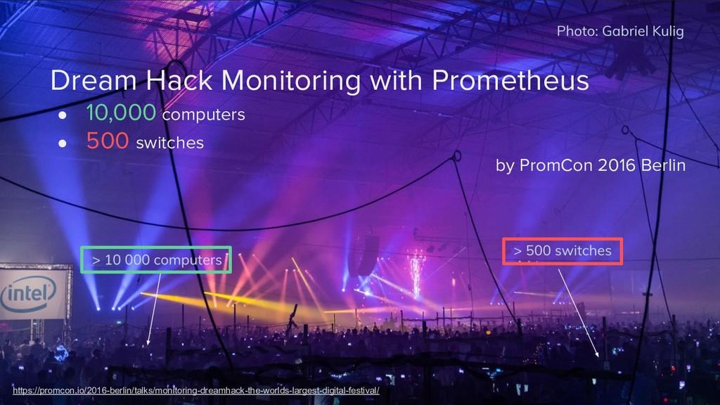 Dream Hack Monitoring with Prometheus ● 10,000 ...