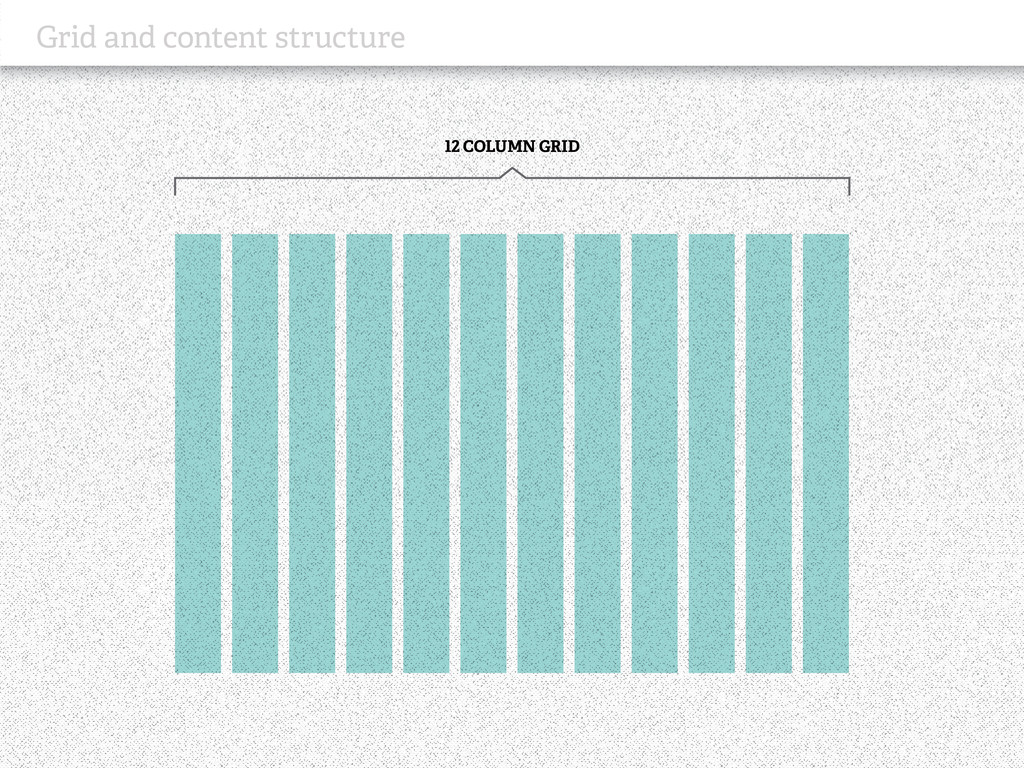 Grid and content structure 12 COLUMN GRID