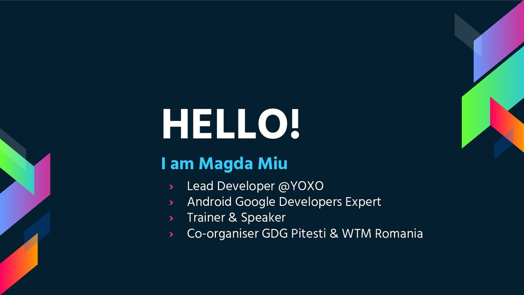 HELLO! I am Magda Miu › Lead Developer @YOXO › ...
