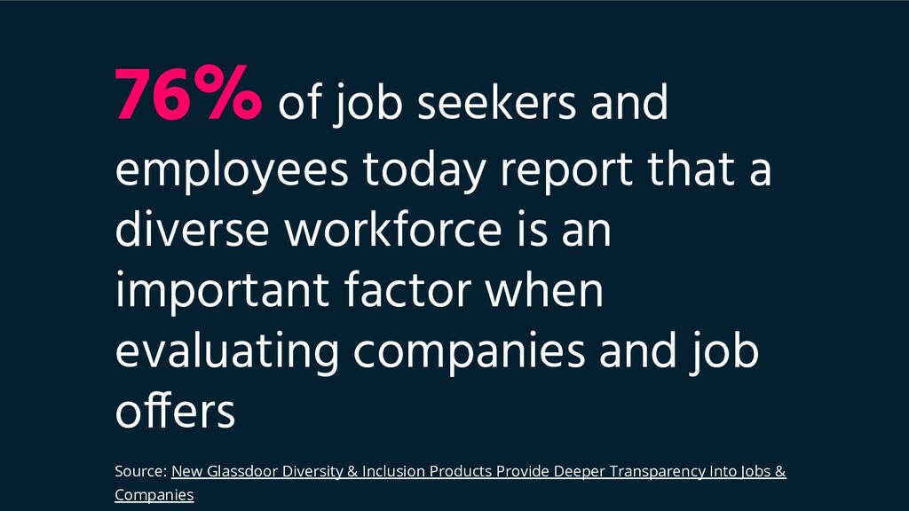 76% of job seekers and employees today report t...