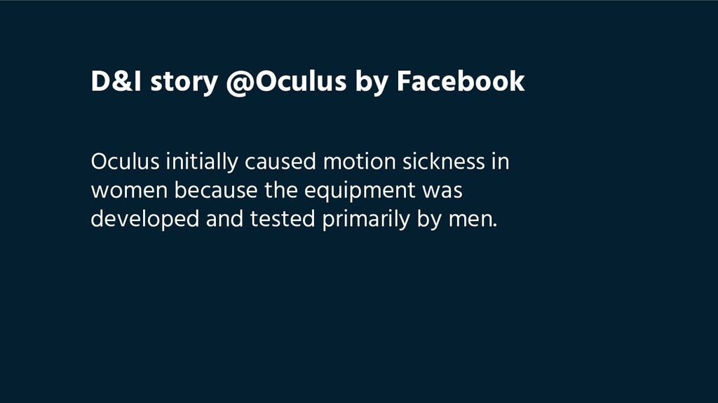 Oculus initially caused motion sickness in wome...