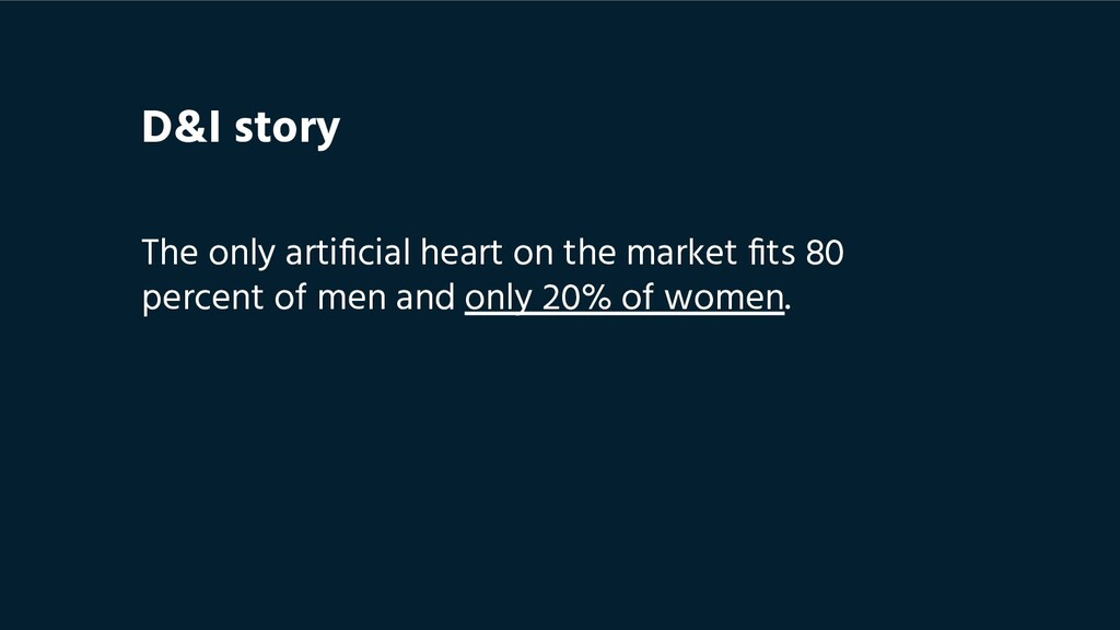 The only artificial heart on the market fits 80 p...