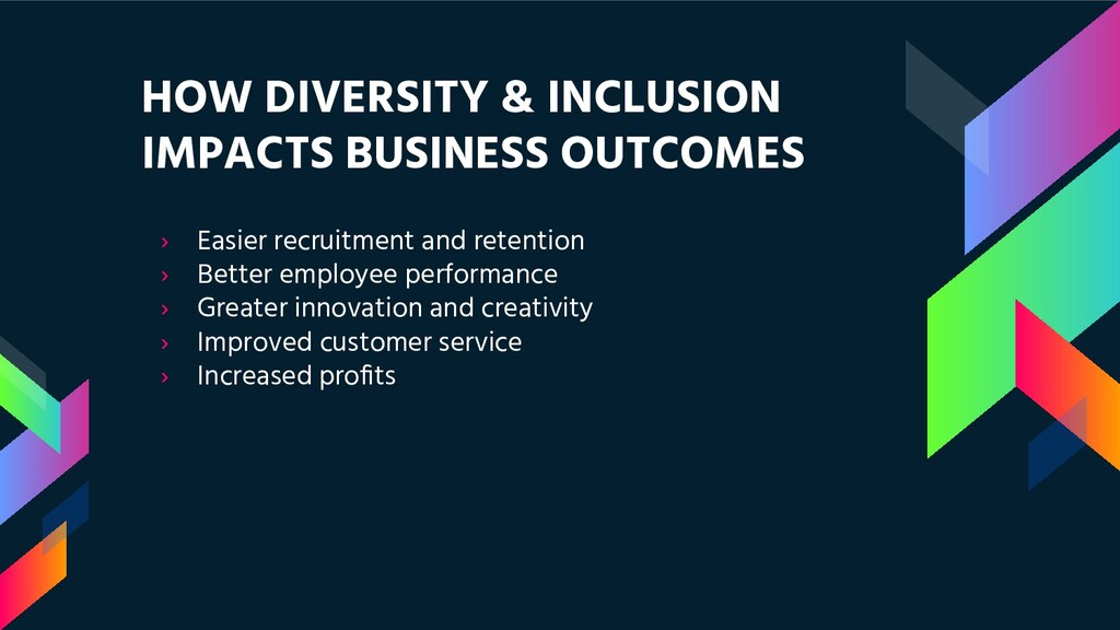 HOW DIVERSITY & INCLUSION IMPACTS BUSINESS OUTC...