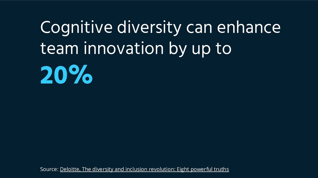 Cognitive diversity can enhance team innovation...