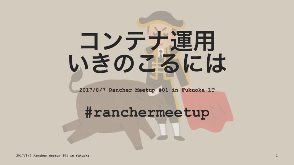 ίϯςφӡ༻ ͍͖ͷ͜Δʹ 2017/8/7 Rancher Meetup #01 in F...