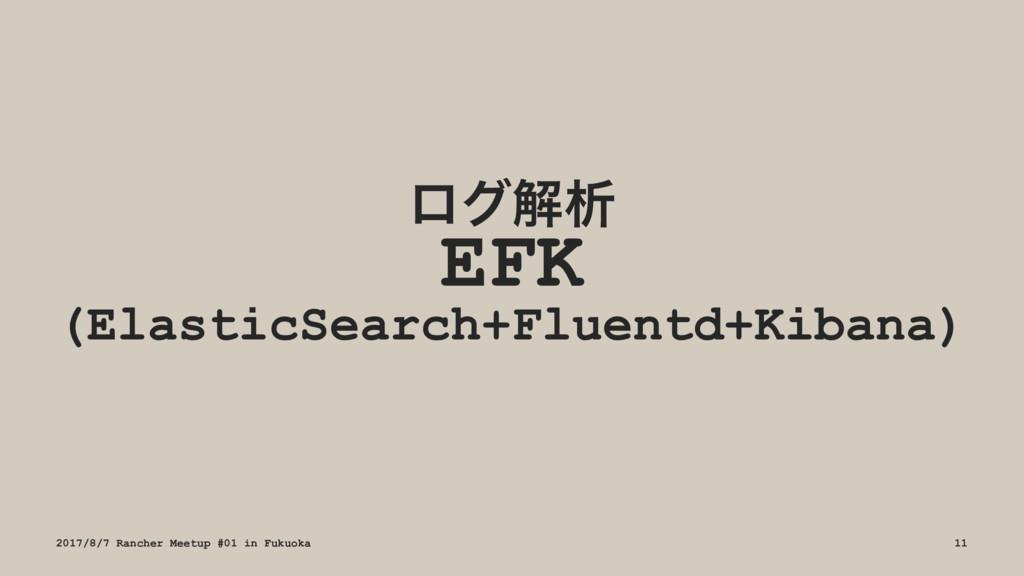 ϩάղੳ EFK (ElasticSearch+Fluentd+Kibana) 2017/8/...